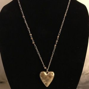 JK by thirty one two tone heart necklace